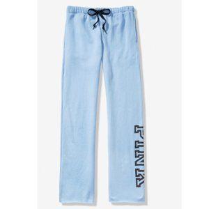 PINK Sweatpants Slate Blue Small or XL Boyfriend